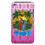 Máscara tropical de Tiki del rosa de la puesta del iPod Touch Case-Mate Cárcasa