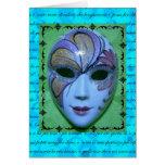 Máscara veneciana 2 felicitacion