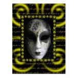 Máscara veneciana 3 postal