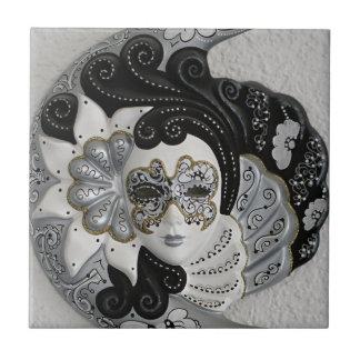 Máscara veneciana azulejo cuadrado pequeño