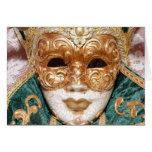 Máscara veneciana felicitación