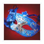 Máscara veneciana impresión en lienzo estirada