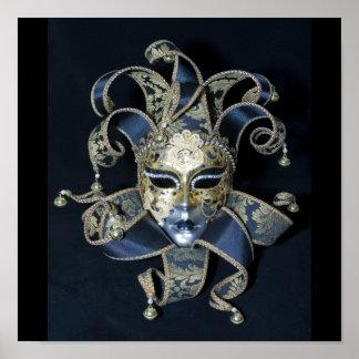 Máscara veneciana póster