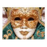 Máscara veneciana tarjeta postal