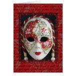 Máscara veneciana tarjetón