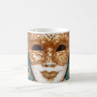 Máscara veneciana taza de café