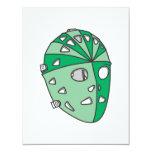 Máscara verde del portero invitacion personalizada