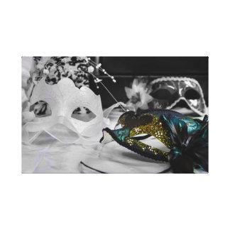 Máscara y negro del color + Blanco Impresiones En Lona Estiradas