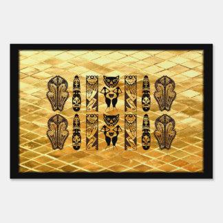 Máscara y símbolos africanos carteles