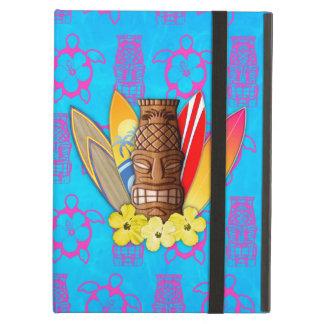 Máscara y tablas hawaianas de Tiki