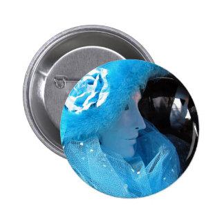 Mascarada azul de Carnivale Pin