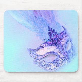 Mascarada azul tapete de raton