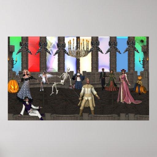Mascarada de Halloween Posters