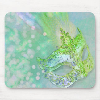Mascarada de la verde lima alfombrillas de raton