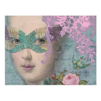 Mascarada del francés postales