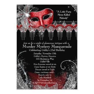 "Mascarada del misterioso asesinato invitación 5"" x 7"""