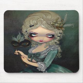 Mascarada Mousepad rococó gótico de Marie