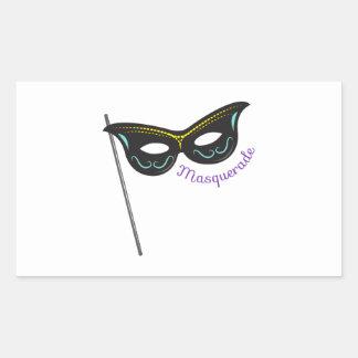 Mascarada Rectangular Pegatinas