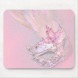 Mascarada rosada alfombrilla de ratones