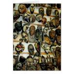 Máscaras africanas tarjeta