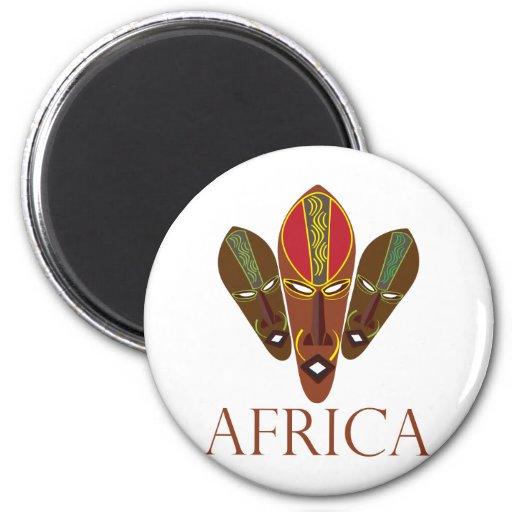 Máscaras de África Iman De Frigorífico