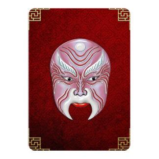 """Máscaras de la Cara-pintura de la ópera de Pekín - Invitación 5"""" X 7"""""""