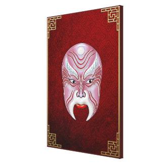 Máscaras de la Cara-pintura de la ópera de Pekín - Lona Envuelta Para Galerias