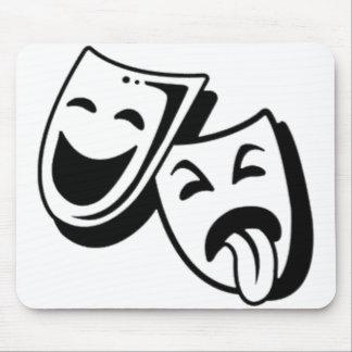 Máscaras de la comedia y de la tragedia mouse pads