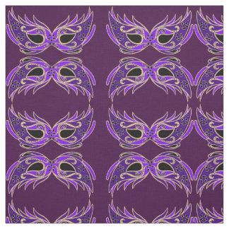 Máscaras de la mascarada de la púrpura real telas