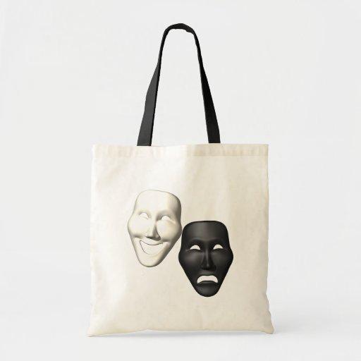 Máscaras de la tragedia de la comedia bolsa de mano