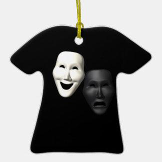 Máscaras de la tragedia de la comedia ornamento para arbol de navidad