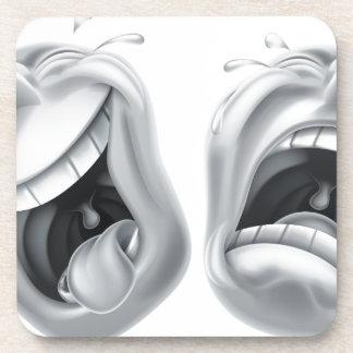 Máscaras de la tragedia de la comedia del teatro posavaso