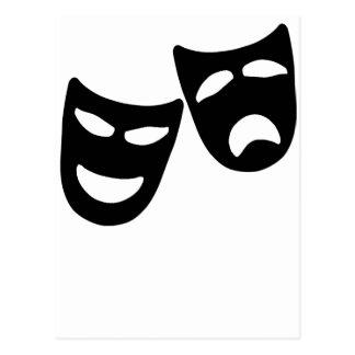 Máscaras de la tragedia y de la comedia postal
