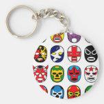 Máscaras de lucha mexicanas de Lucha Libre Llavero Redondo Tipo Pin