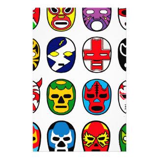 Máscaras de lucha mexicanas de Lucha Libre Papeleria De Diseño