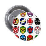 Máscaras de lucha mexicanas de Lucha Libre Pin Redondo De 2 Pulgadas