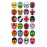 Máscaras de lucha mexicanas de Lucha Libre Tarjeta Postal