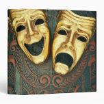 Máscaras de oro de la comedia y de la tragedia en
