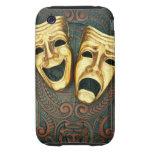 Máscaras de oro de la comedia y de la tragedia en  iPhone 3 tough cárcasa