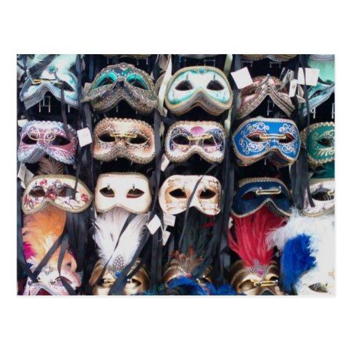 Máscaras de Venecia Postal