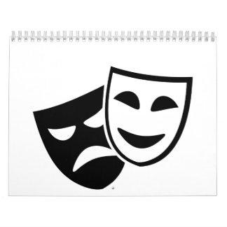Máscaras del actor calendarios de pared