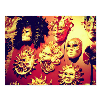 Máscaras del carnaval de Venecia Tarjeta Postal