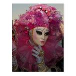 Máscaras del carnaval de Venecia Tarjetas Postales
