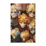 Máscaras del carnaval en Venecia Lienzo Envuelto Para Galerias