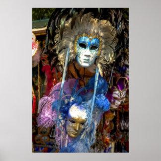 Máscaras del carnaval posters