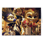 Máscaras del carnaval tarjetas