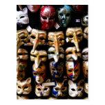 Máscaras del carnaval tarjetas postales