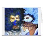 Máscaras del carnaval, Venecia Tarjeton