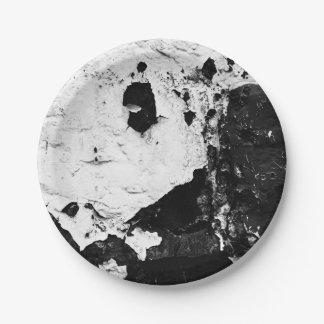 máscaras del devestation plato de papel de 7 pulgadas