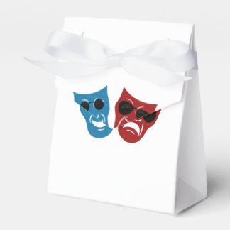 Máscaras del drama con las gafas de sol caja para regalo de boda